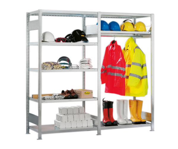 PPE shelving example