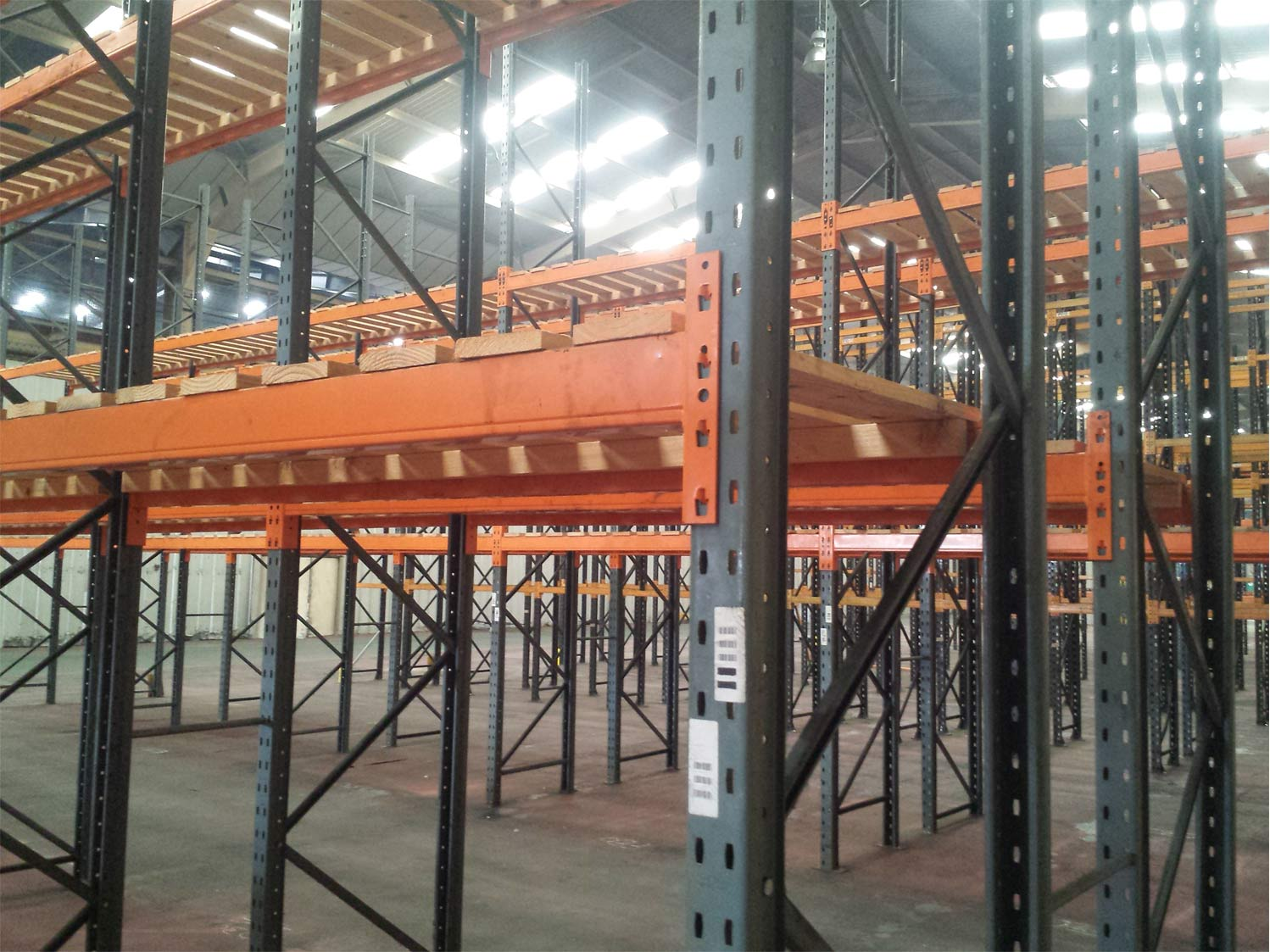Recent Pallet Racking example