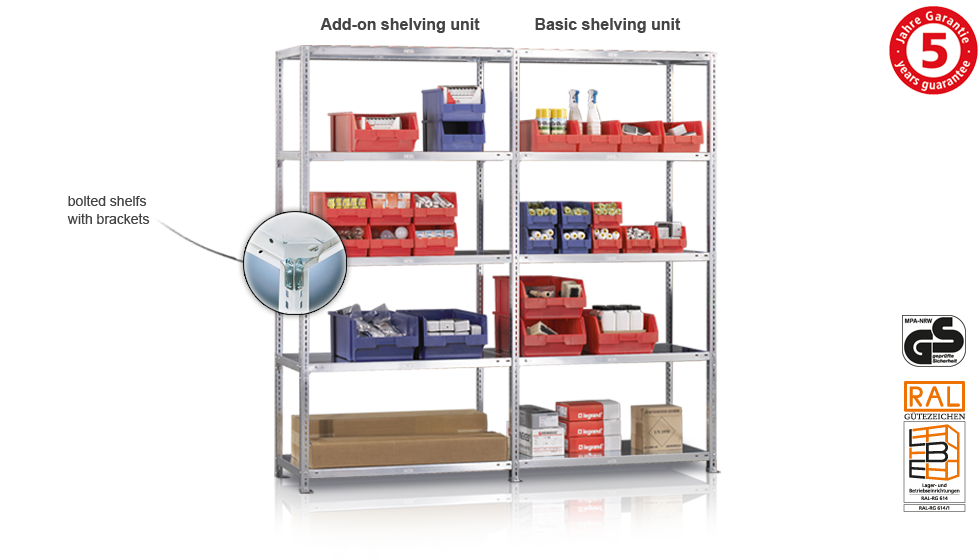 Bolted shelving example