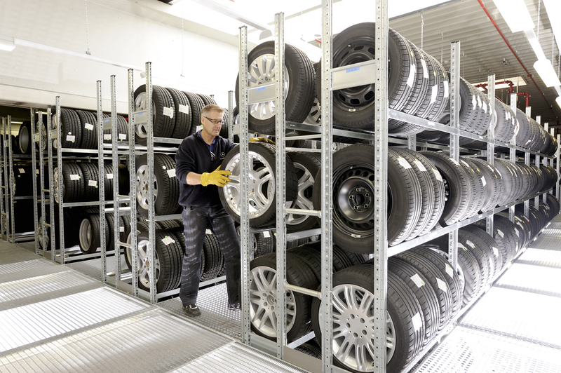 typical example of tyre racking